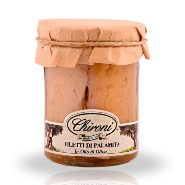 filetti di palamita 180 g chironi prodotti tipici salento acquistare on line prezzo cotto al vapore in olio di oliva