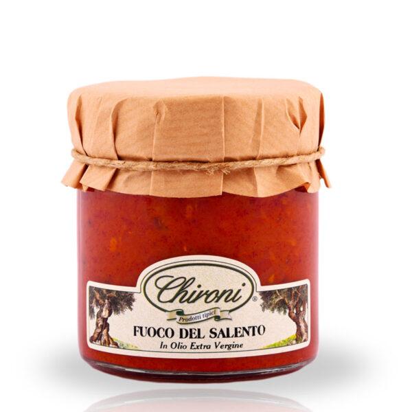 Fuoco peperoncino piccante crema 230 g chironi prodotti tipici salento acquistare on line prezzo