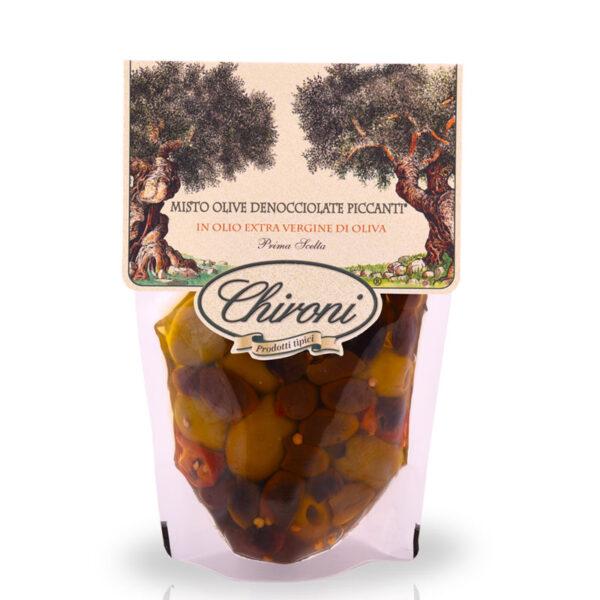 misto olive denocciolate piccanti piccanti 300 g chironi prodotti tipici salento acquistare on line prezzo leccine