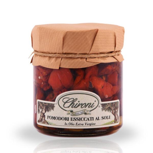 pomodori essiccati al sole 230 g chironi prodotti tipici salento acquista prezzo prima scelta croccanti carnosi secchi lavorazione dal fresco.