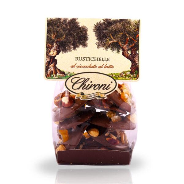Rustichelle cioccolato latte frutta secca in superficie fichi mandorle arancio nocciola pistacchio chironi prodotti tipici salento acquistare on line prezzo