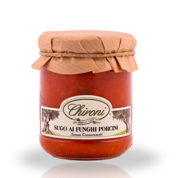 Sugo funghi porcini 180 g chironi prodotti tipici salento acquistare on line prezzo prima scelta senza conservanti solo pastorizzato