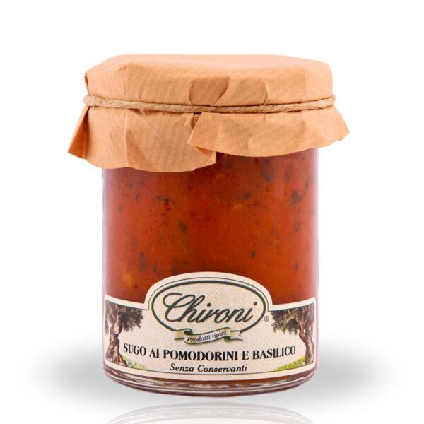 Sugo pomodorini ciliegino basilico 180 g chironi prodotti tipici salento acquistare on line prezzo