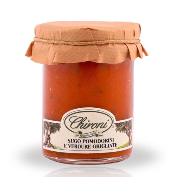 Sugo pomodorini ciliegino verdure grigliate 180 g chironi prodotti tipici salento acquistare on line prezzo