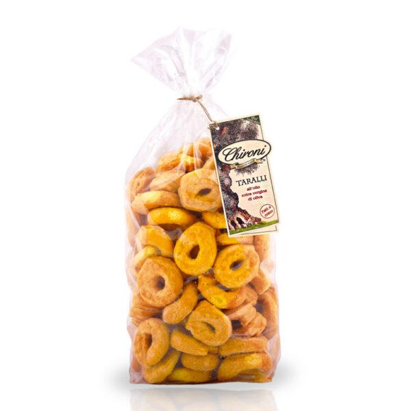 Taralli olio extra vergine di oliva 1000 g HO.RE.CA. chironi prodotti tipici salento acquista on line prezzo bolliti fatti a mano classici