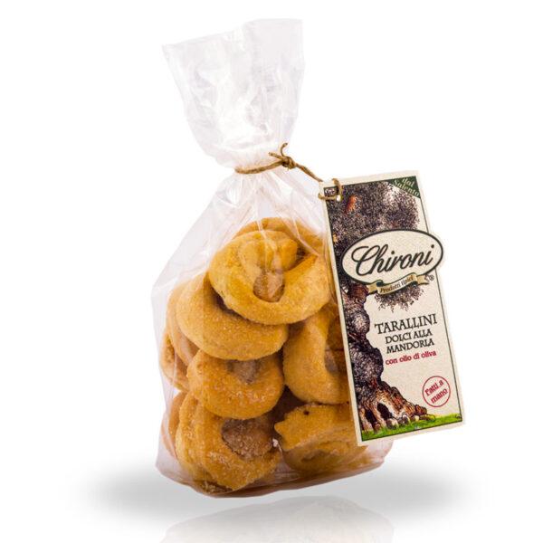 Tarallini dolci alla mandorla 250 g chironi prodotti tipici salento acquista prezzo