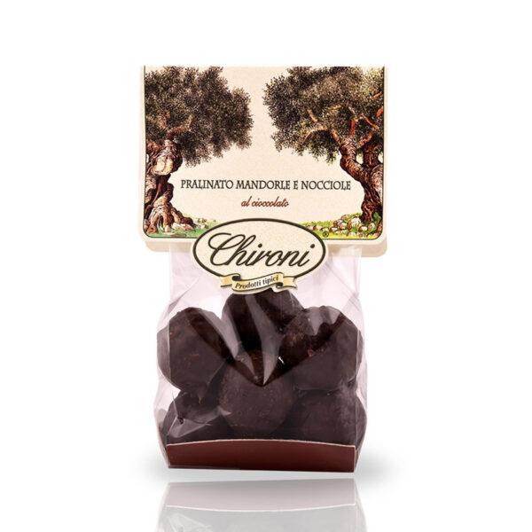 Praline di mandorle e nocciole cioccolato fondente 200 g chironi prodotti tipici salento acquista on line prezzo