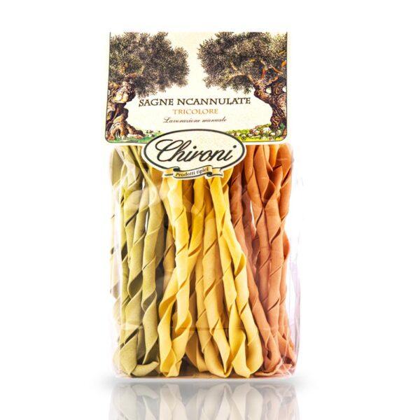 Sagne incanulate tricolore 500 g arrotolata a mano chironi prodotti tipici salento acquistare on line prezzo
