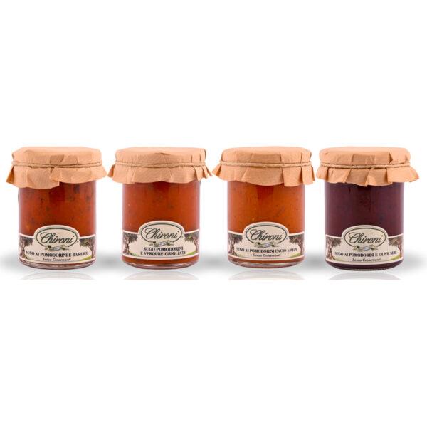 sughetti pomodori ciliegino chironi prodotti tipici salento basilico verdure grigliate cacio pepe olive nere acquistare on line prezzo prima scelta senza conservanti solo pastorizzata