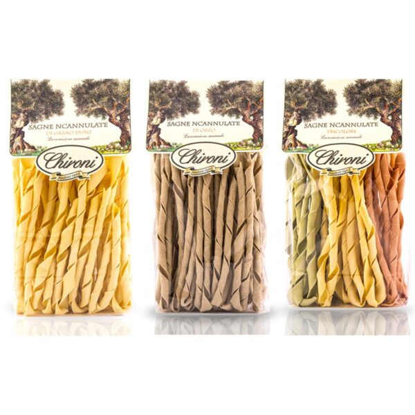 Sagne incanulate tipico lecce chironi classiche orzo tricolore