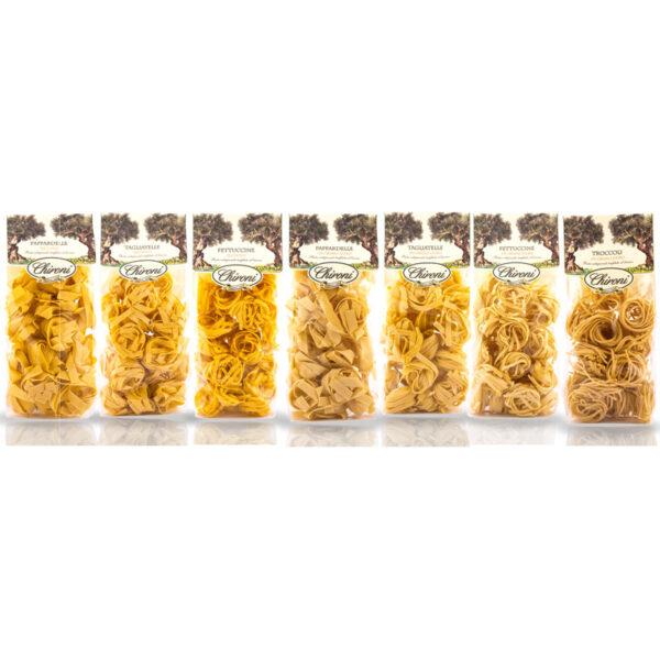 Tagliatelle pappardelle fettuccine troccoli pasta a nido semola di grano duro all'uovo lenta essiccazione chironi prodotti tipici salento acquistare on line prezzo