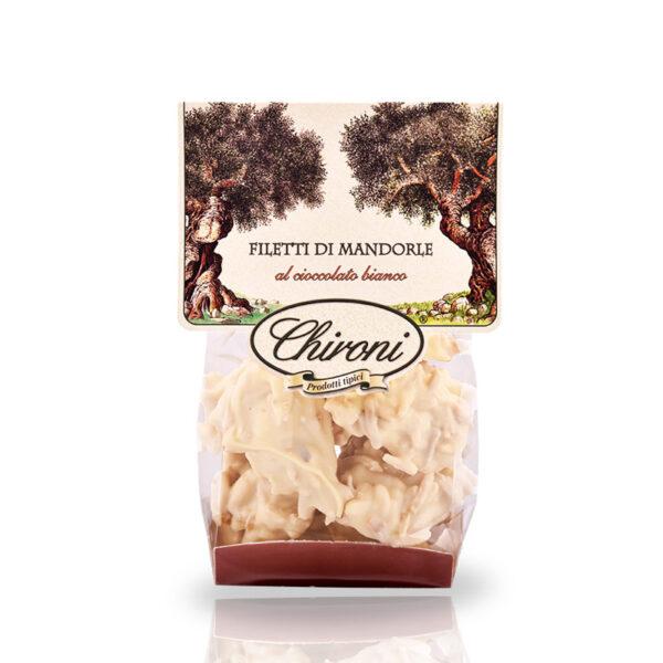 filetti di mandorle tostate al forno caramellate cioccolato bianco chironi prodotti tipici salento acquistare on line