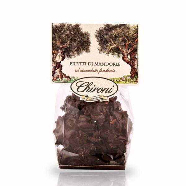 filetti di mandorle tostate al forno caramellate cioccolato fondente chironi prodotti tipici salento acquistare on line