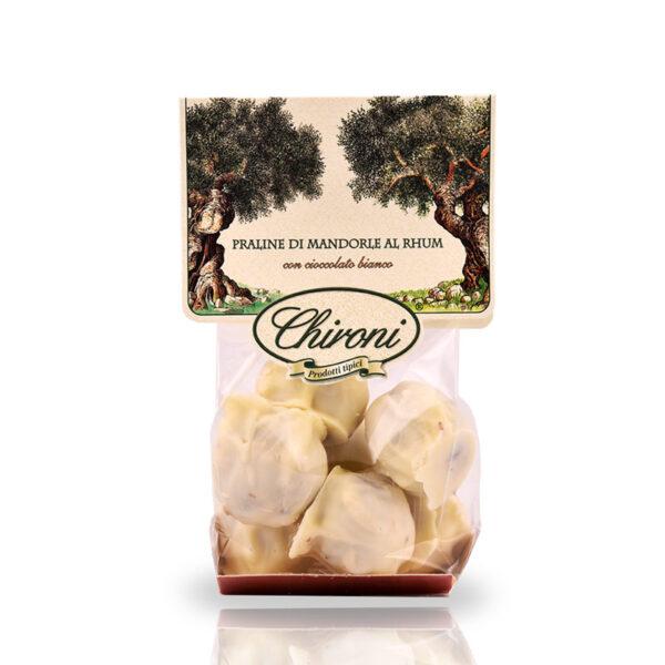 Praline di mandorle rum cioccolato bianco 200 g chironi prodotti tipici salento