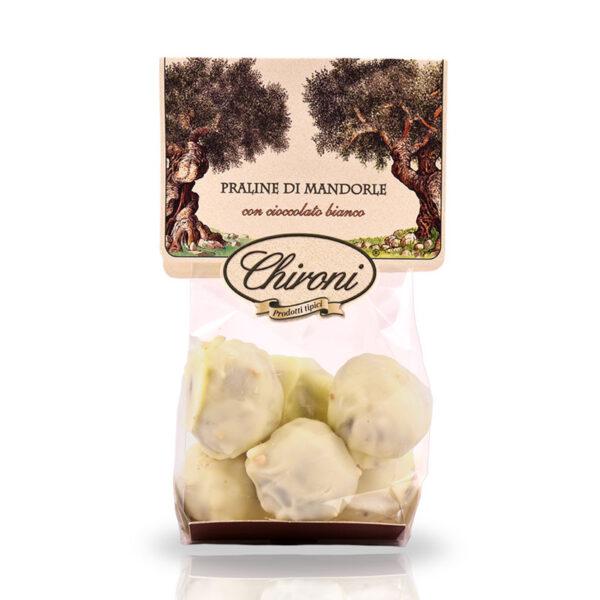 Praline di mandorle cioccolato bianco 200 g chironi prodotti tipici salento