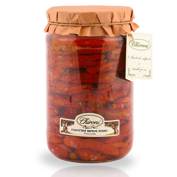 fagottini ripieni tonno 1600 g HO.RE.CA. pomodori san marzano essiccati al sole chironi prodotti tipici salento acquistare on line prezzo HO.RE.CA. sottolio