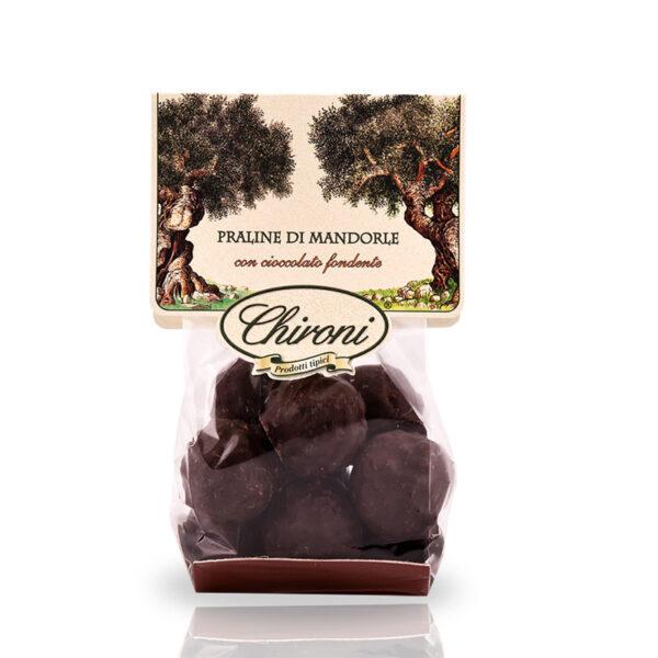 Praline di mandorle cioccolato fondente 200 g chironi prodotti tipici salento mandorle nocciole rum